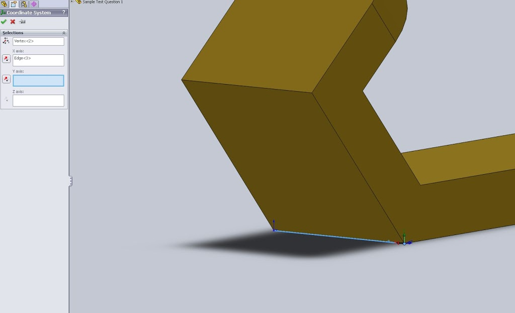 Setting the Origin in Solidworks: Correct a mistake on the CSWP - 3D