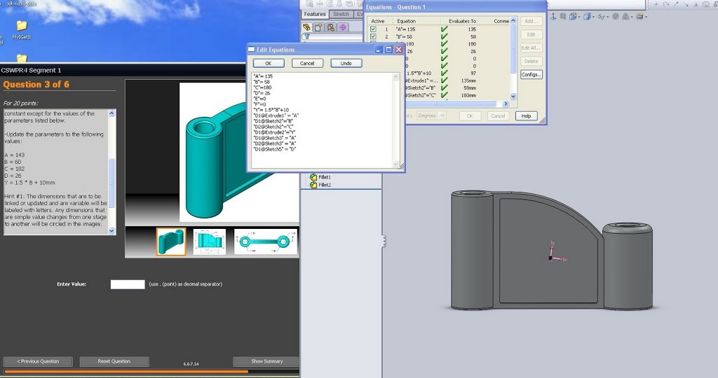 Part One Of Cswp Part Modeling And Dimension Updating 3d Engineer