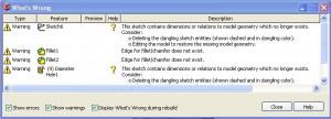 Solidworks rebuilding errors