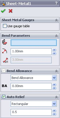 Bend Allowance Cswp Sheet Metal 3d Engineer
