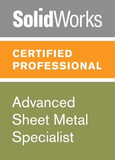 Cswp Sheet Metal Certificate 3d Engineer