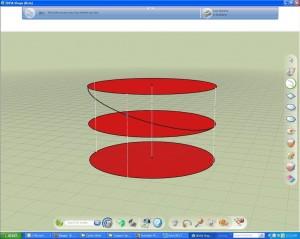 Helix modeling in 3dVia