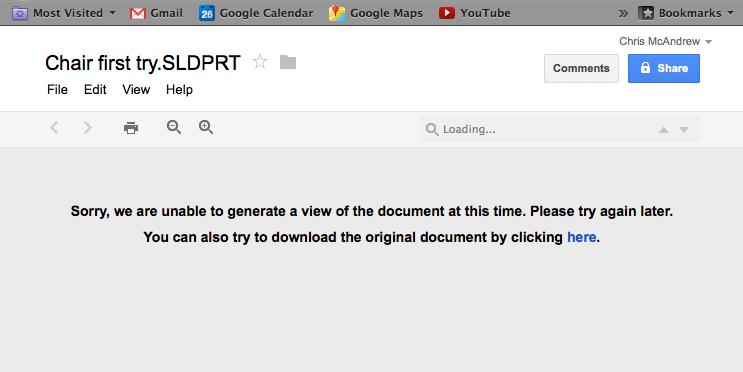 Google Docs for eDrawings App - 3D Engineer