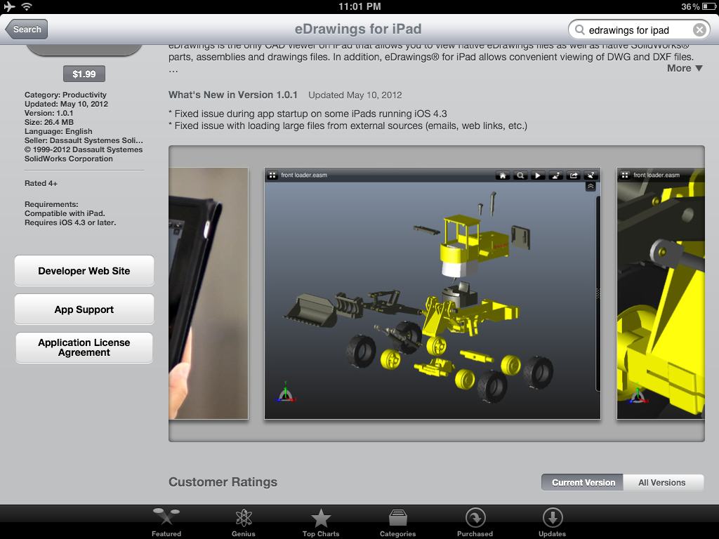 EDrawings iPad App Review - 3D Engineer