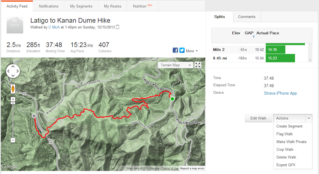 Embed Strava Data on a Website using Google Maps or Open in Google