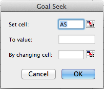 how to get goal seek to find exact value
