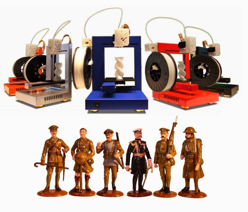 Custom Detailed Toy Soliders Created With 3D Printing
