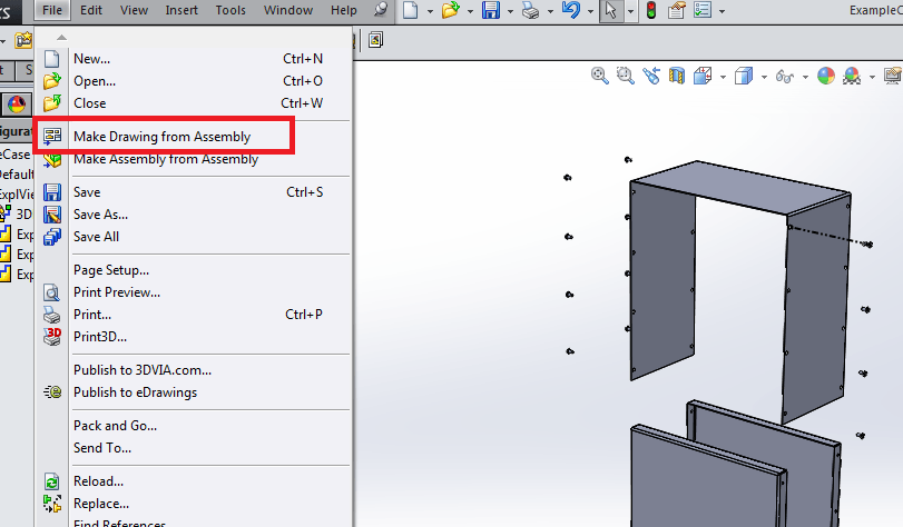 Solidworks Tutorial: Drawings with Exploded Assembly View