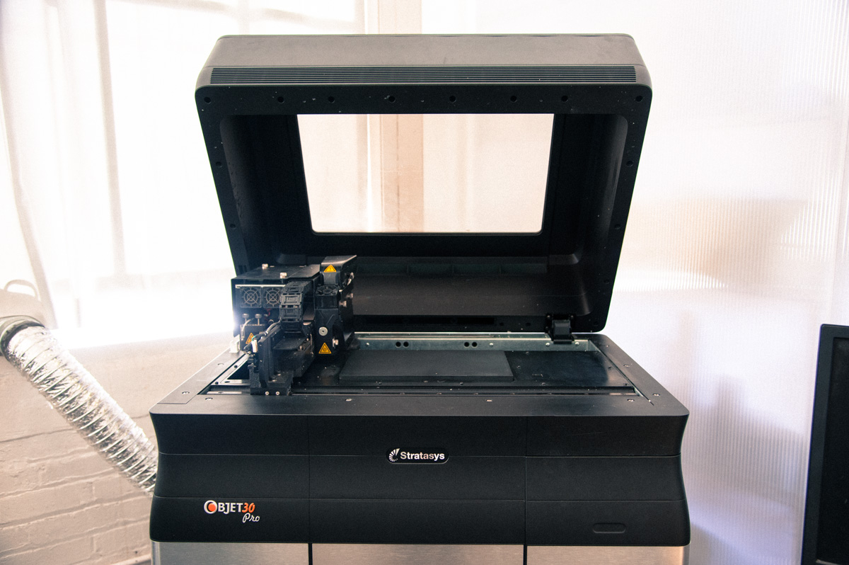 Stratasys Objet 30 3D printer owned by Moddler, a top 3D printing vendor in the Bay Area